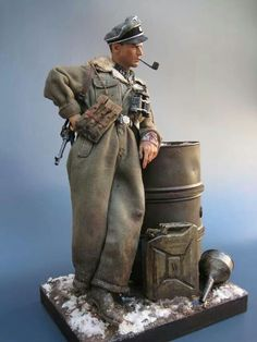 WWII German toy solider SS officer by Oscar Hernandez Martin.
