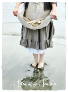 ~ Belle plage Decor Tablescape pièces ~ Dix pièces de bois flotté belle jai rassemblé au large de la côte Pacifique du Nord-Ouest.  Cinq pièces