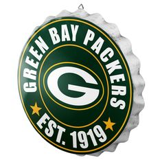 Green Bay Packers Sign Bottle Cap Style