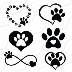 Paw Print Crafts, Paw Print Art, Dog Paw Prints, Dog Tattoos, Mini Tattoos, Small Tattoos, Dog Paws, Unique Tattoos, Svg Cuts