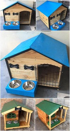 Easy DIY Ideas with Used Wood Pallets – 2019 - Pallet ideas.Easy DIY Ideas with Used Wood Pallets 2019 Lets ready to design out another thought-provoking pallet plan for your house. This incredible pallet # DIY Pallet Dog House, Wooden Dog House, Dog House Plans, House Dog, Pallet Furniture Designs, Wooden Pallet Projects, Wood Pallet Furniture, Garden Furniture, Furniture Ideas