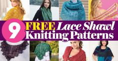 Our Top 9 FREE Lace Shawl Knitting Patterns   Blog   Let's Knit Magazine Poncho Knitting Patterns, Knitting Blogs, Knitted Poncho, Knitted Shawls, Knit Patterns, Free Knitting, Lace Shawls, Knitted Gifts, Broomstick Lace