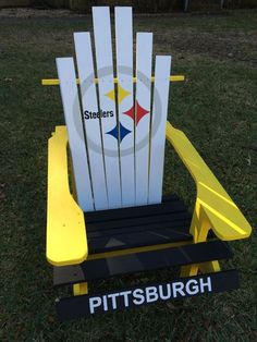 #Pittsburgh #Steelers Custom Painted Adirondack Chair