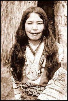 Ainu woman in OLD JAPAN