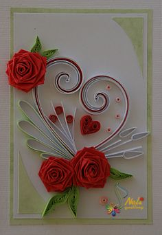 Neli is a talented quilling artist from Bulgaria. Her unique quilling cards bring joy to people around the world. Neli Quilling, Quilled Roses, Paper Quilling Cards, Paper Quilling Flowers, Paper Quilling Tutorial, Paper Quilling Patterns, Quilled Paper Art, Quilling Paper Craft, Paper Crafts