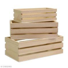 Achetez à prix mini le produit Casier à décorer en bois - 16,5 / 19 / 21,5 cm - 3 pcs - Livraison rapide, offerte dès 49,90 € !