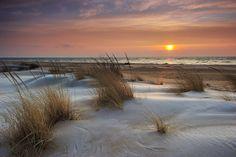 Sunrise over Lake Huron at Tawas City, Michigan