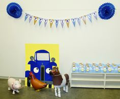 Little blue truck party ideas; little blue truck theme