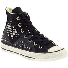 Converse Chuck Taylor All Star Multi Panel ❤ liked on Polyvore featuring shoes, sneakers, converse, 18. converse., tenis, converse shoes, star shoes, studded lace-up wedge sneakers, leather trainers and studded shoes