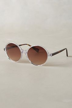 Clear Circular Charlottenburg Sunglasses #31956873 @ Anthropologie $10