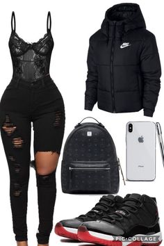 in StephanJames in GhettoLove in NOLA in Multi… Fiction Source by amixz outfits black girl Baddie Outfits Casual, Boujee Outfits, Cute Swag Outfits, Cute Comfy Outfits, Teen Fashion Outfits, Girly Outfits, Look Fashion, Trendy Outfits, Polyvore Outfits