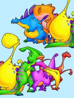 dinosaur character design by Aaron Zenz