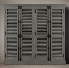 Shutter 4-Door Cabinet