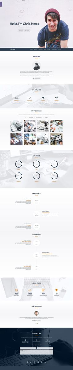 Alpha is a free, multipurpose and responsive one page HTML5 - wordpress resume template
