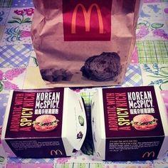 Trying out the new Korean burger at McDonalds! #HongKong #Food