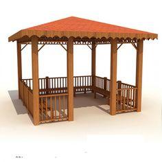 KAMELYA 08 Gazebo Plans, Pergola Designs, Blog, Cottage, Outdoor Structures, Home Decor, Life, Gardens, Concession Stands