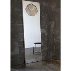 LEFF amsterdam Inverse Mirror Clock | Natural