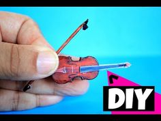 how to make a miniature violin