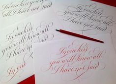 In one kiss ...   _Rachel Yallop Calligraphy & Lettering