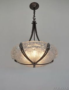 GENET & MICHON : FRENCH 1925 ART DECO CHANDELIER ... lustre muller era 1920 1930 in Antiques, Decorative Arts, Lamps | eBay