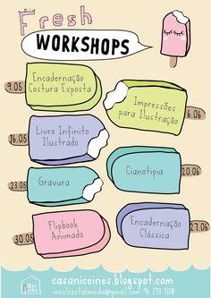 Casa Nic & Inês: FRESH Workshops.  ice-cream cute graphics