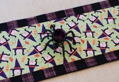 Halloween Witch Quilted Table Runner in Matilda by CharleyDeeandMe, $45.00