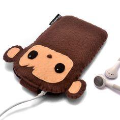 Mono iPhone 5 casos iPod caso iPhone 4S caso mono por minifelts