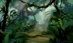 Animation Backgrounds: THE LION KING