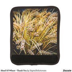 Sheaf Of Wheat - Thank You Luggage Handle Wrap