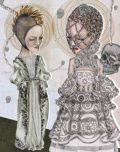 Illustration.Files: Alexander McQueen F/W 2010 & 2013 Fashion Illustration by Katarina Kühl
