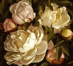 now this is an amazing painting of peonies.. ! artist is Mia Tarney