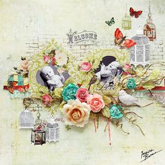 Ingvild Bolme: A layout with BRAND NEW Shabby Chic Metal Treasures!