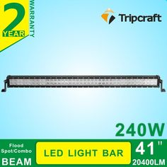111.00$  Watch now - http://alicv5.worldwells.pw/go.php?t=32614449462 - 240W 42 inch Offroad LED Work Light Bar for Driving Tractor Boat Truck SUV ATV Car Garden Backyard 12V 24V with IP67