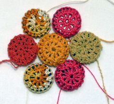 Upcycle ugly Buttons into pretty crocheted ones.