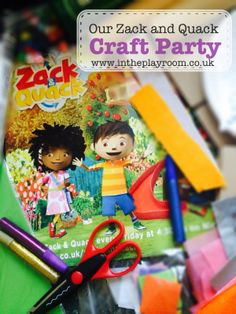 Our Zack Quack Craft Party - Junk modelling, crafts with tissue paper, and biscuit decorating