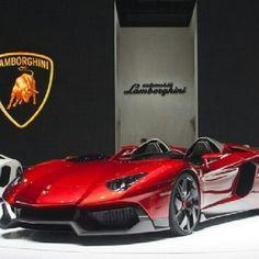 Devil red Lamborghini Aventador J concept!