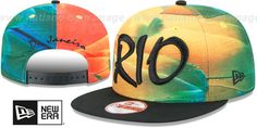 Brazil 'REALLY RIO SNAPBACK' Hat by New Era : may be pictured without stickers that these products are shipped with