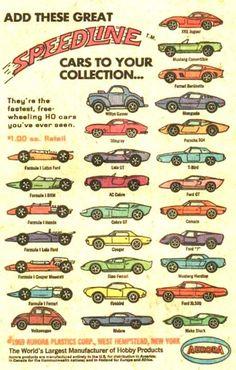 Aurora Speed-line Cigar Box Cars