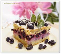 Ciasto z jagodami i budyniem
