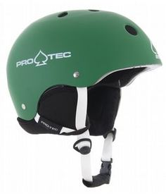 Protec Classic Snowboard Helmet Matte Green; The original PRO-TEC classic helmet officially certified for snow, skate and bike use. Ride in style with the protection you need, on snow or off. Everyone loves an original.