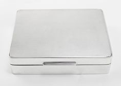 Silver Cigarette Box Engine Turned London 1960
