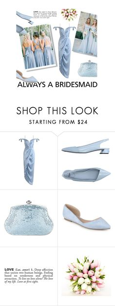 """""""Something Borrowed, Someone Blue...."""" by lenochka-li ❤ liked on Polyvore featuring Zimmermann, Fendi, Judith Leiber, ADZif, BridesMaid, Blue, formal and contestentry"""