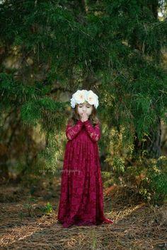 Fall Flower Girl Dress For Wedding.