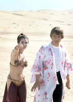 "hollywoodlady: ""Carrie Fisher and Mark Hamill on the set of Star Wars: Episode VI Return of the Jedi, 1983 """