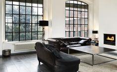 Klassiek zwart wit interieur