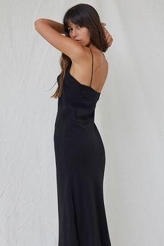 de334815e6 Silk Slip Dress - Black by NATALIJA 269.00 Simple and easy to wear