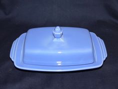 Homer Laughlin Fiesta Harlequin Large Blue Butter Dish