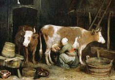Gerard ter Borch - A Maid Milking a Cow in a Barn fine art preproduction . Explore our collection of Gerard ter Borch fine art prints, giclees, posters and hand crafted canvas products Hieronymus Bosch, Henri Matisse, Edward Robert Hughes, Milk The Cow, Alex Pardee, Fabian Perez, Empire Ottoman, Kunsthistorisches Museum, Bill Ward