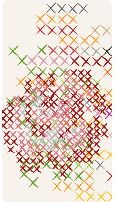 """@Jenny Hart """"Chaotic Rose Cross Stitch"""" customize an iPhone or iPod Touch capsule case with this design for purchase at Uncommon."""