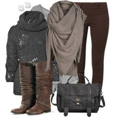 ☆ Gray & Brown Casual Style